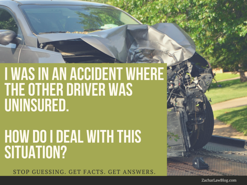 I was in an accident where the other driver was uninsured. How do I deal with this situation?