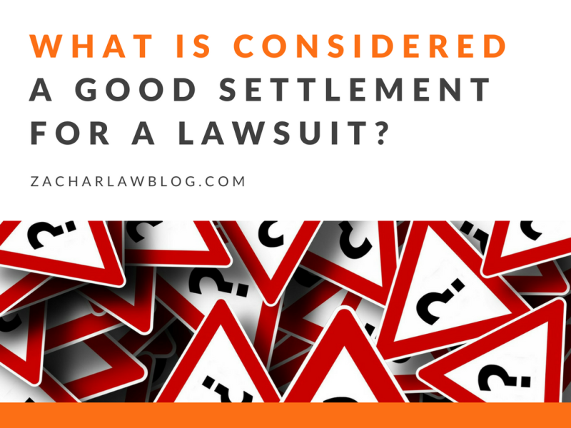 What is a good settlement for a personal injury case