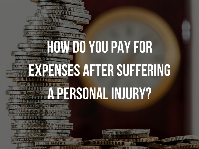How do you pay for expenses after suffering a personal injury?