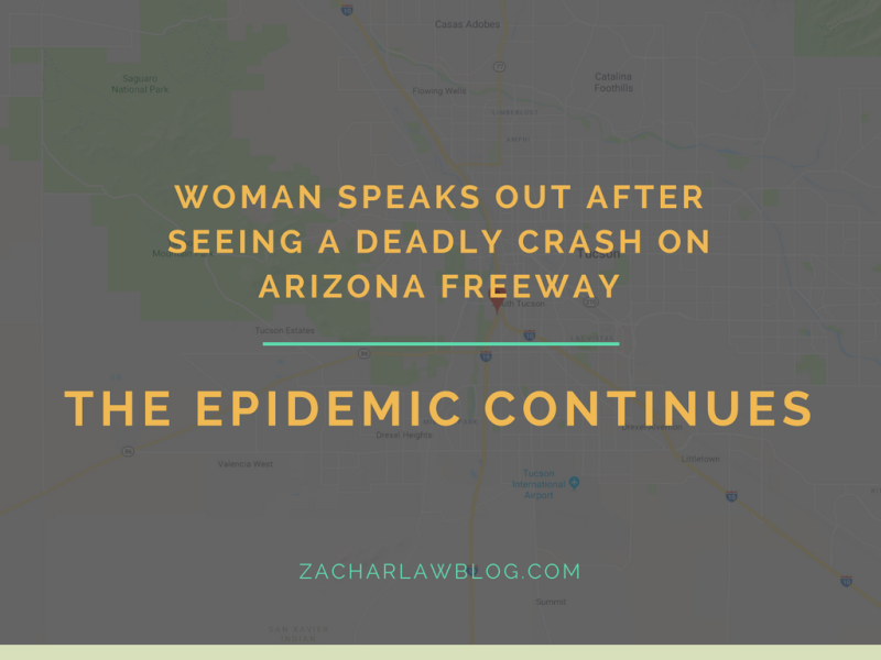 Woman speaks out after seeing a deadly crash on Arizona freeway
