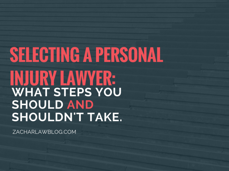 SELECTING A PERSONAL INJURY LAWYER_