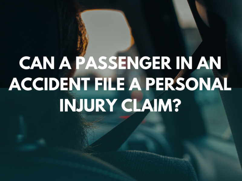 Can a passenger in an accident file a personal injury claim?