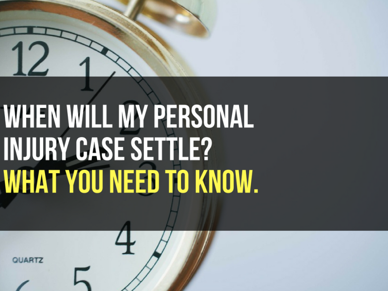 When will my personal injury claim settle in phoenix arizona