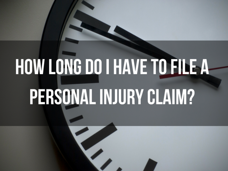 How long do I have to file a personal injury claim?