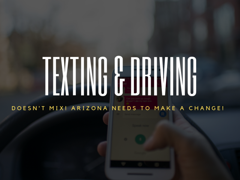 PHOENIX ARIZONA TEXTING AND DRIVING LAW