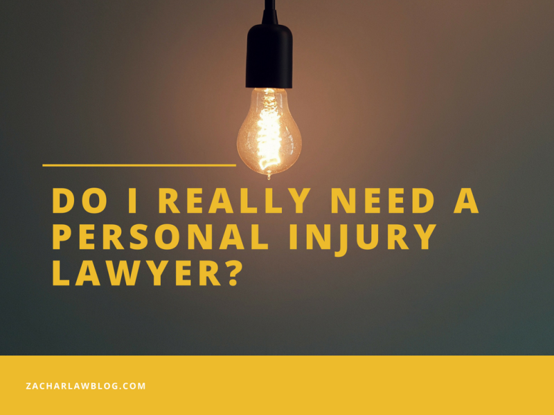 Do you really need a personal injury lawyer for your case