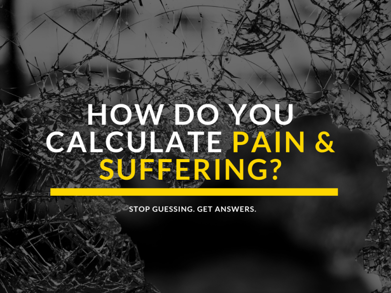 How do you calculate pain and suffering in a phoenix personal injury case?