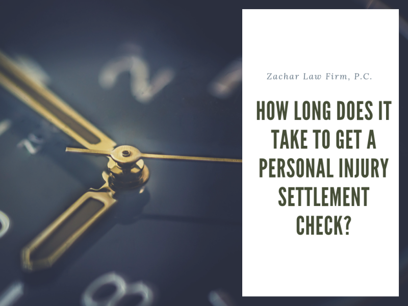 How long does it take to get a personal injury settlement check in phoenix arizona