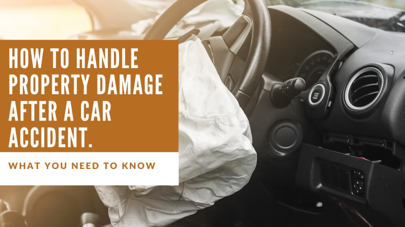 How to handle property damage after a car accident. What you need to know.